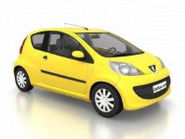 Peugeot 107 city car 3d model preview