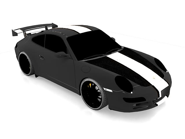 Porsche 997 GT3 RSR 3d rendering