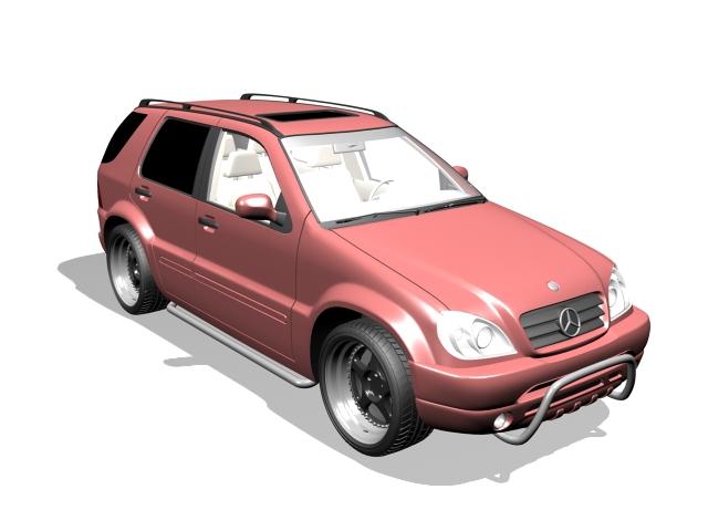 Mercedes-Benz ML-430 luxury SUV 3d rendering