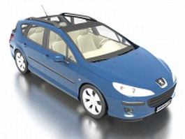 Peugeot 407 SW wagon 3d preview
