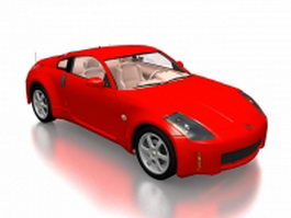 Opel GT sports car 3d preview