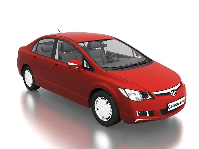 Honda Civic Hybrid 3d rendering