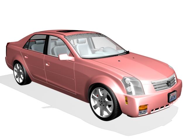 Cadillac DTS sedan 3d rendering