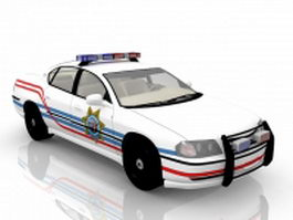 Chevrolet police car 3d preview