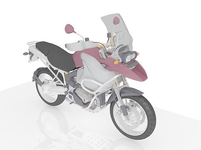 Off-Road Motorcycle 3d rendering