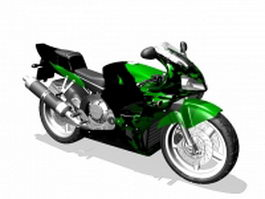 Honda sport motorcycle 3d preview