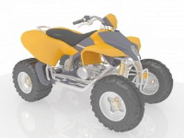 Racing ATV vehicle 3d preview