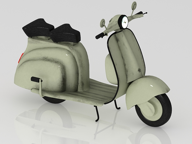 Electric scooter moped 3d rendering