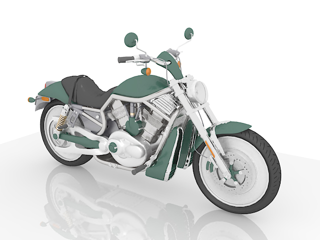 Sport touring motorcycle 3d rendering