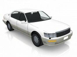 White Lexus car 3d preview
