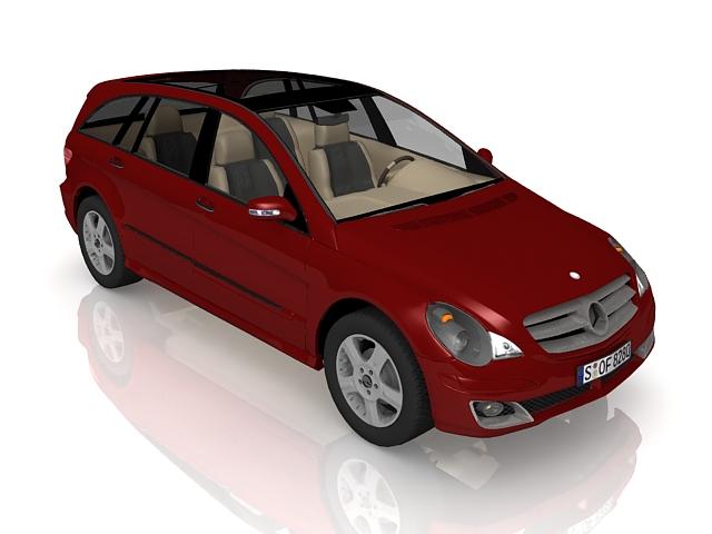Mercedes-Benz A-Class compact car 3d rendering