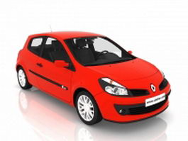 Renault Clio supermini car 3d preview