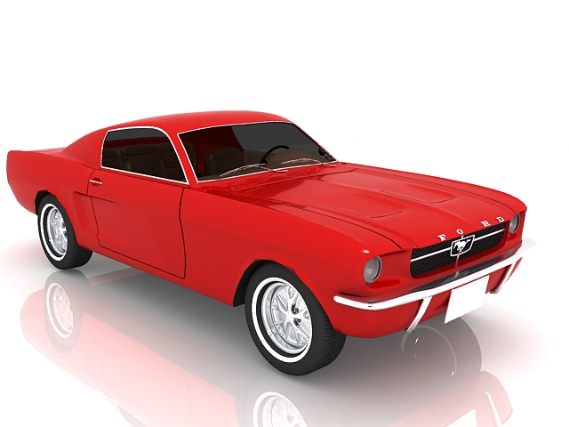 1965 Ford Mustang Fastback 3d rendering