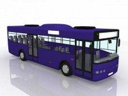 Blue bus 3d model preview