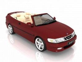 Saab 9-3 convertible 3d preview