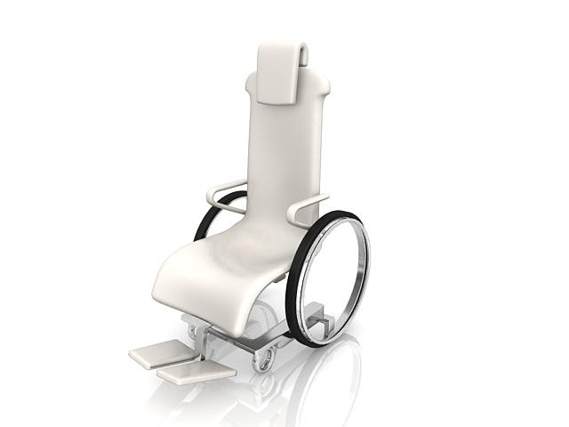Modern wheelchair 3d rendering