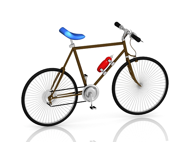 Road bicycle 3d rendering