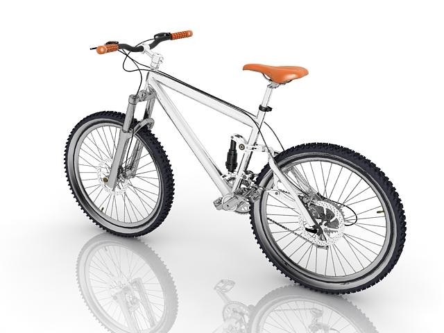 Freeride mountain bike 3d rendering