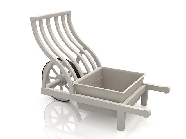 Medieval farm garden cart 3d rendering