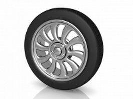 Automobile wheel 3d preview