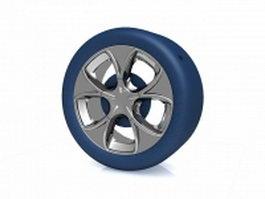 Blue wheel 3d preview