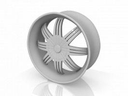 Alloy wheel 3d preview