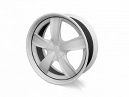 Spoked wheel 3d preview