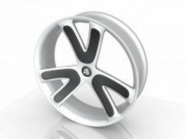 Chrome wheel rim 3d preview