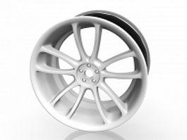 Trailer wheel rim 3d preview