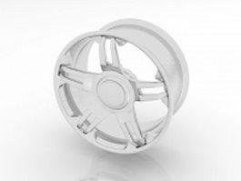 Truck wheel rim 3d preview