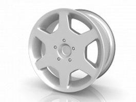 Alloy wheel rim 3d preview