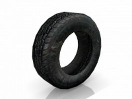 Used old car tire 3d preview