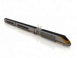 High-speed rail train 3d preview