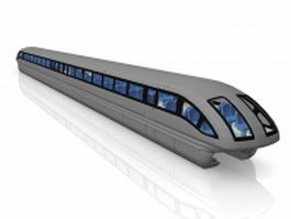 Transrapid Maglev train 3d preview