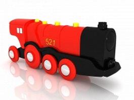 Vintage locomotive 3d preview