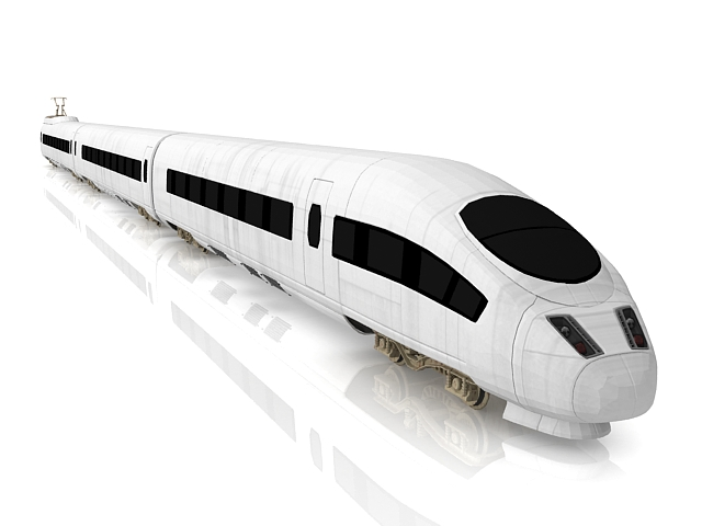 ICE Trains Intercity-Express 3d rendering