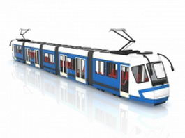 Blue trolley car 3d preview