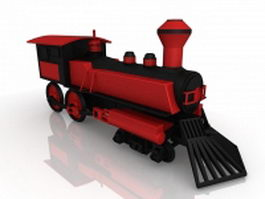 19th Century railway locomotive 3d preview