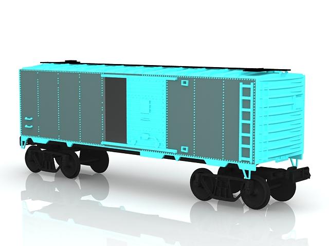 Boxcar train 3d rendering