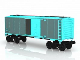 Boxcar train 3d preview
