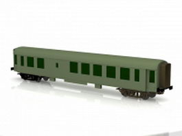 Old passenger car 3d preview
