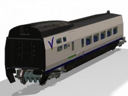 Railroad passenger car 3d preview