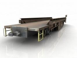 Railroad flatcar 3d preview