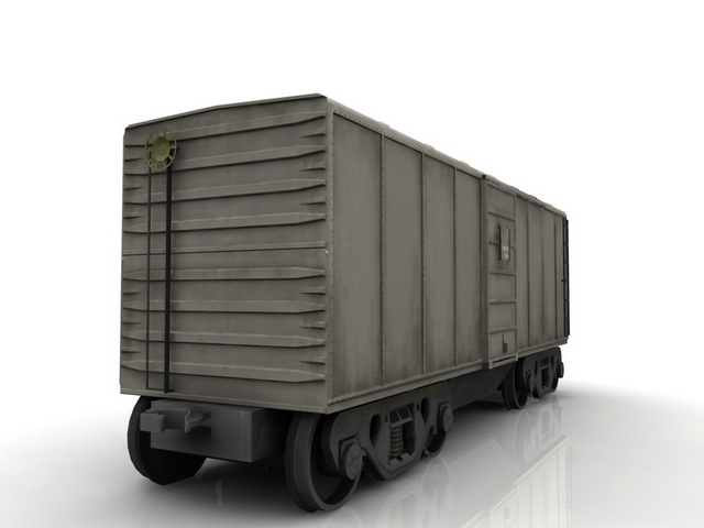 Railroad boxcar goods van 3d rendering