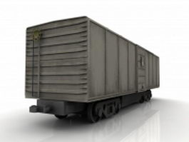 Railroad freight boxcar 3d preview