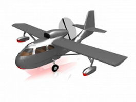 Small old plane 3d preview