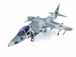 Harrier Jump Jet strike aircraft 3d preview