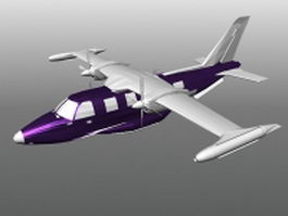 Turboprop airplane 3d preview