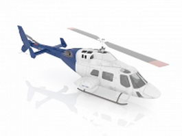Utility helicopter 3d model preview