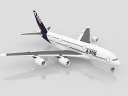 Airbus A380 jet airliner 3d preview